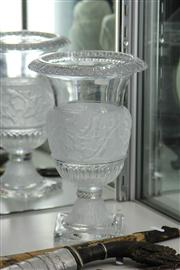 Sale 8160 - Lot 58 - Frosted Glass Vase