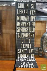 Sale 8235 - Lot 1003 - Vintage Bus Scroll of Hobart and Suburbs