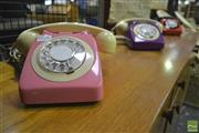 Sale 8287 - Lot 1086 - Three Vintage Coloured Telephones
