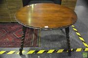 Sale 8368 - Lot 1015 - Round Cricketers Table with Pie Crust Edge