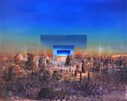 Sale 8394 - Lot 554 - Ken Johnson (1950 - ) - Urban Desert, 1992 121 x 151cm