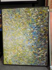Sale 8422T - Lot 2013 - V. Dzelzkalejs, Abstract, oil painting, 62 x 78cm, signed