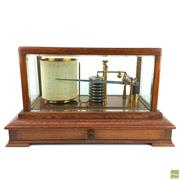 Sale 8589R - Lot 15 - Seismograph in Fine Timber and Glass Casing (W: 27cm)