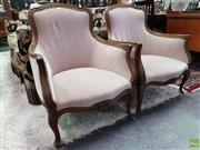 Sale 8580 - Lot 1022 - Pair of French Style Armchairs