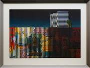 Sale 8753 - Lot 2001 - Jeffrey Smart (1921 - 2013) - Fence 59.5 x 87cm (frame: 82.5 x 109cm)