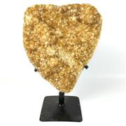 Sale 8758 - Lot 192 - Sheet of Citrine Crystal, mounted on stand