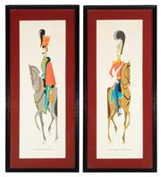 Sale 8873A - Lot 73 - Two mid C20th chromolithographs of the Fifteenth Hussars, Sixth Dragoon 1838