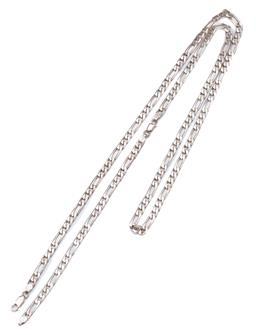 Sale 9099 - Lot 144 - A silver 88cm curb link chain. Weight: 43.1 grams , Length 95cm